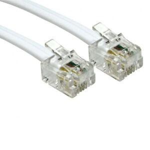 5m Long RJ11 To RJ11`Cable Lead 4 Pin ADSL DSL Router Modem Phone 6p4c - W WR