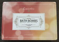 New Casachino Bath Bombs Beauty Art Nature Organic Natures Burst 4.2oz 6ct