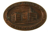 Antique Historical c.1890's The South School Gang Oval Pin Hartford Connecticut