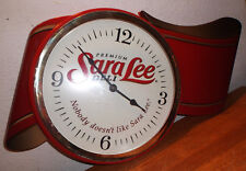 Sara Lee Red Ribbon Premium Deli Advertising Clock works good 15 yr old Cond BIN