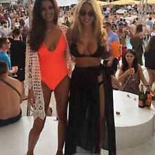 Women's Swimwear Bikini Cover Up Sheer Skirt Beach Maxi Long Sarong Pareo Dress