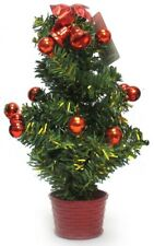 30cm Small Table Top Artificial Christmas Tree Baubles Office Decoration Mini