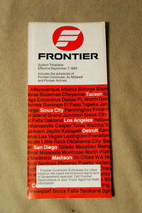 Frontier Airlines System Timetable - Sept 7, 1983