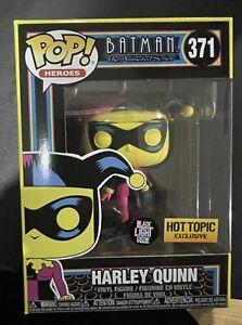 Funko Pop Dc Harley Quinn Black Light Hot Topic Exclusive Pre Order