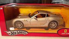 Hotwheels J2875 - Ferrari 599 Gtb Argent 1:18-Hot Wheels