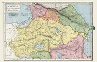 Map Albania Armenia Picture Canvas Art Print