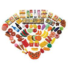 120 Piece Pretend Play Toy Food Set Kids Childrens Creative Plastic Educational