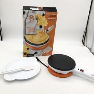 MasterChef Cordless Crepe Maker Non-stick Dipping Plate Electric Base & Spatula