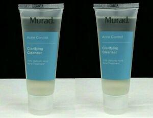 2 x Murad Acne Clarifying Cleanser 4.5fl oz/135ml New Exp 3/2020 New  sealed