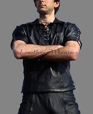 Lederhemd mit Schnürung Leder Hemd Gothic Mittelalter Leather cuir shirt