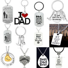 Fathers Day Gifts For Dad Birthday Jewellery Necklace Keyring Bracelet Daddy New