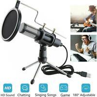 Microphone Mic Broadcasting Singing Studio Recording Condenser Laptop For P Q5V8