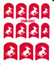 Nail Art Decal Stencil Stickers Cute Donkey XF.M039