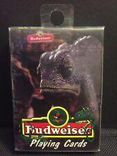 Vintage 1998 Budweiser Lizard Playing Cards Anheuser Busch Sealed