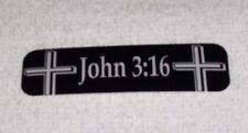 John 3:16 Christian Jesus God Motorcycle Helmet Sticker Biker Helmet Decal