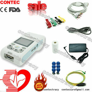CONTEC ECG90A Handheld 1 Channel 12-lead EKG Electrocardiograph Portable ECG,FDA