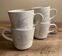 Corelle Corning Spring Pond Coffee Tea Cups Mugs EUC - Set of 4