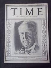 Vintage Time Magazine November 17 1924  Frederick Huntington Gillett cover