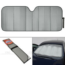 Jumbo Auto Sun Shade Foldable Metallic Gray Wind Shield Lid Reversible Shade