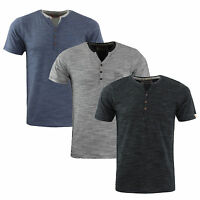 Mens Designer Henley Style T-Shirt by Tokyo Laundry 'Buffalo Cove' 100% Cotton