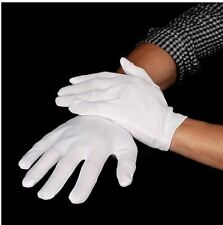 White Short Gloves - Captain Clown Magician Santa Halloween Fancy Dress Costume