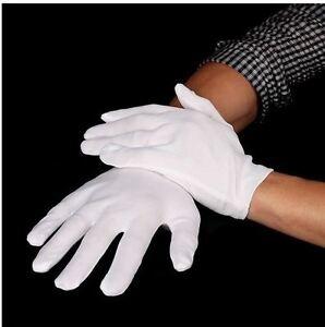 White Short Gloves - Captain Clown Magician Santa Halloween Fancy Dress Costume