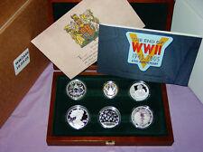 2005 Royal Mint la Segunda Guerra Mundial las fuerzas aliadas Colección de monedas de plata prueba emitidas