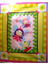 SECRET  LIFE  OF  FAIRIES #2 -  Baby  or  Child  Quilt Top  Panel