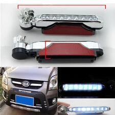 2PCS 8LED White Turbine Wind Powered Auto Car Fog Warning Running Light Lamp