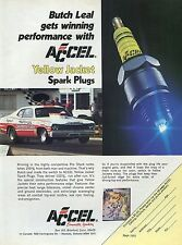 1974 Accel Yellow Jacket Spark Plugs Ad w/ Butch Leal California Flash Pro Stock