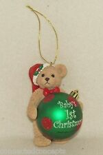 Christmas Bearington Bears - Baby's First Christmas Santa Bear Ornament (902001)