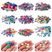 50PCS Fruit Animal Flower Polymer Clay Spacer Loose Beads DIY Bracelet Necklace