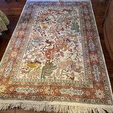 """Hand Knotted Hand Crafted Beautiful Persian Rug/Tapestry 55""""X85 + Fringe Nr"""