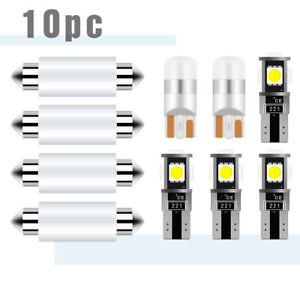 LED Light Kit For Honda Accord Sedan 2003-2012 Interior License Package 10x