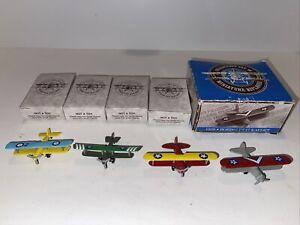 Reader's Digest Collector's Set of Miniature Biplanes 4 Diecast