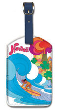 Leatherette Travel Luggage Tag Baggage Label - Hawaii Continental Airlines
