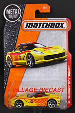 2016 Matchbox #63 '15 (Chevy®) Corvette® Stingray™ VELOCITY YELLOW/FIRE/MOC
