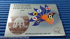 2001 Australia Centenary of Federation Uncirculated Six Coin Set