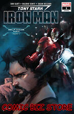 TONY STARK IRON MAN #1 (2018) 1ST PRINTING MAIN COVER BAGGED & BOARDED ($4.99)