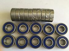 20 pcs 6203 2RS double BLUE rubber sealed ball bearing, 17x 40x 12 mm