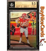 2017 Patrick Mahomes Select Field Level Silver Prizms Refractor SP RC BGS 9.5