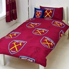 WEST HAM UNITED FC DUVET PILLOWCASE QUILT COVER SINGLE CHARACTER BEDDING SET WHU