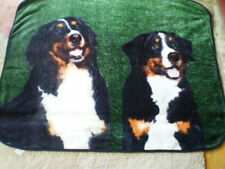 "2 Bernaise Mountain Dogs Soft throw blanket 48""x58�"