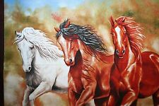"COWBOY COWGIRL & HORSE FABRIC PANEL ""HAPPY TRAILS"" from ELIZABETH'S STUDIO"
