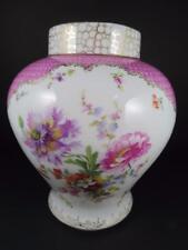 """Dresden Porcelain Floral 8"""" Vase (#9-2)"""