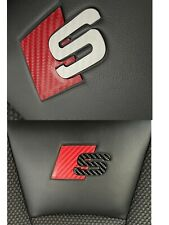 Carbon Fiber Audi S-line Seat Decal / Stickers , A3, S3, A4, A1