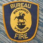 """Bureau Fire Richmond Virginia VA 4.5"""" Cloth Department Patch"""