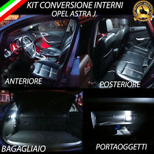 KIT LED INTERNI OPEL ASTRA J CONVERSIONE COMPLETA + LUCI TARGA A LED CANBUS