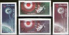 VIETNAM du NORD N°321/324** Non dentelés Espace,1963,North Viet Nam Imperf.Space