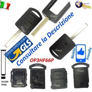 Telecomando CHIAVE GUSCIO OP3HF66P LAMA FISSA HU100 per OPEL Corsa Meriva Combo